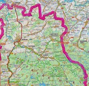 Frýdlantsko – přehledová mapa